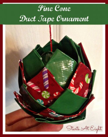 Pine Cone Duct Tape Ornament