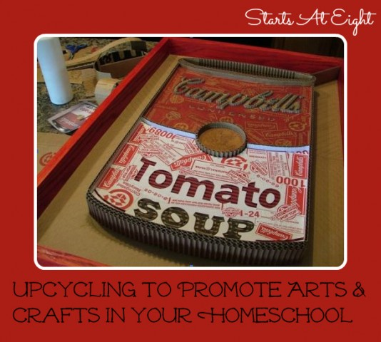 Upcycling To Promote Arts & Crafts In Your Homeschool from Starts At Eight