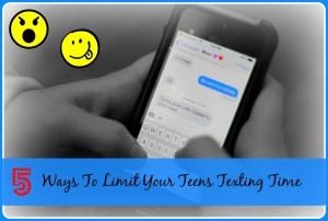 5 Ways To Limit Your Teens Texting Time from Starts At Eight