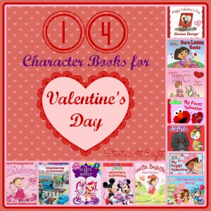 14 Character Books for Valentine's Day from Starts At Eight