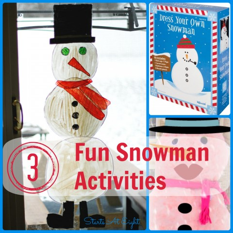 3 Fun Snowman Activities from Starts At Eight