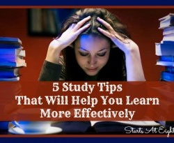5 Study Tips That Will Help You Learn More Effectively