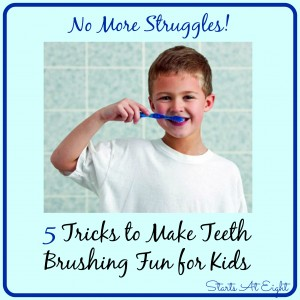 5 Tricks to Make Teeth Brushing Fun for Kids from Starts At Eight