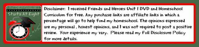 Friends and Heroes Curriculum Disclaimer