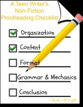 A Teen Writer's Non-Fiction Proofreading Checklist