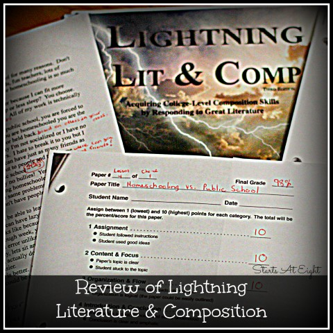 Review of Lightning Literature & Composition Review from Starts At Eight