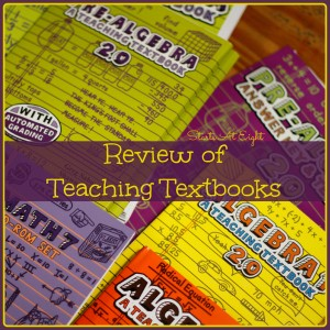 Review of Teaching Textbooks from Starts At Eight