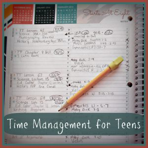 Time Management for Teens from Starts At Eight