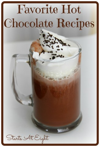 Favorite Hot Chocolate Recipes from Starts At Eight