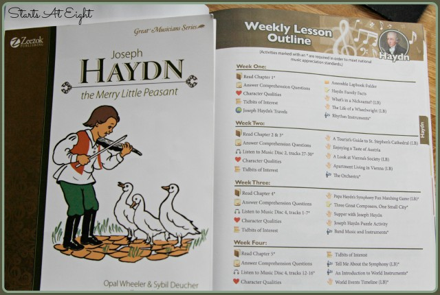 Joseph Haydn Weekly Outline from Zeezok Music Appreciation Curriculum