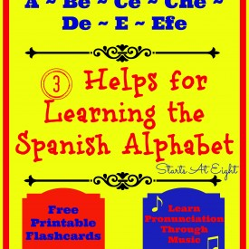 Learning the Spanish Alphabet from Starts At Eight