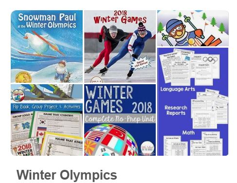 Winter Olympics Pinterest Board from Starts At Eight
