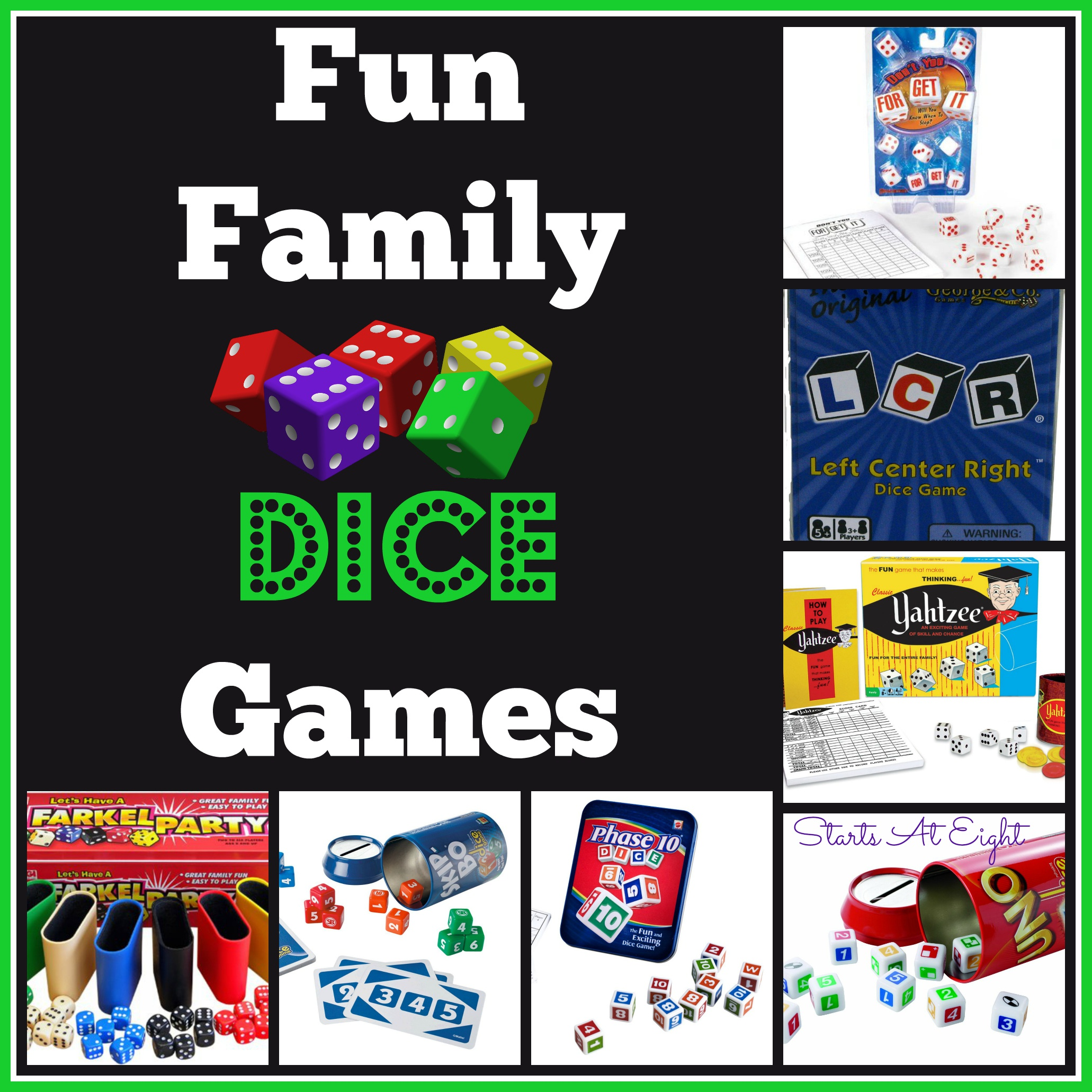 Fun Family Dice Games