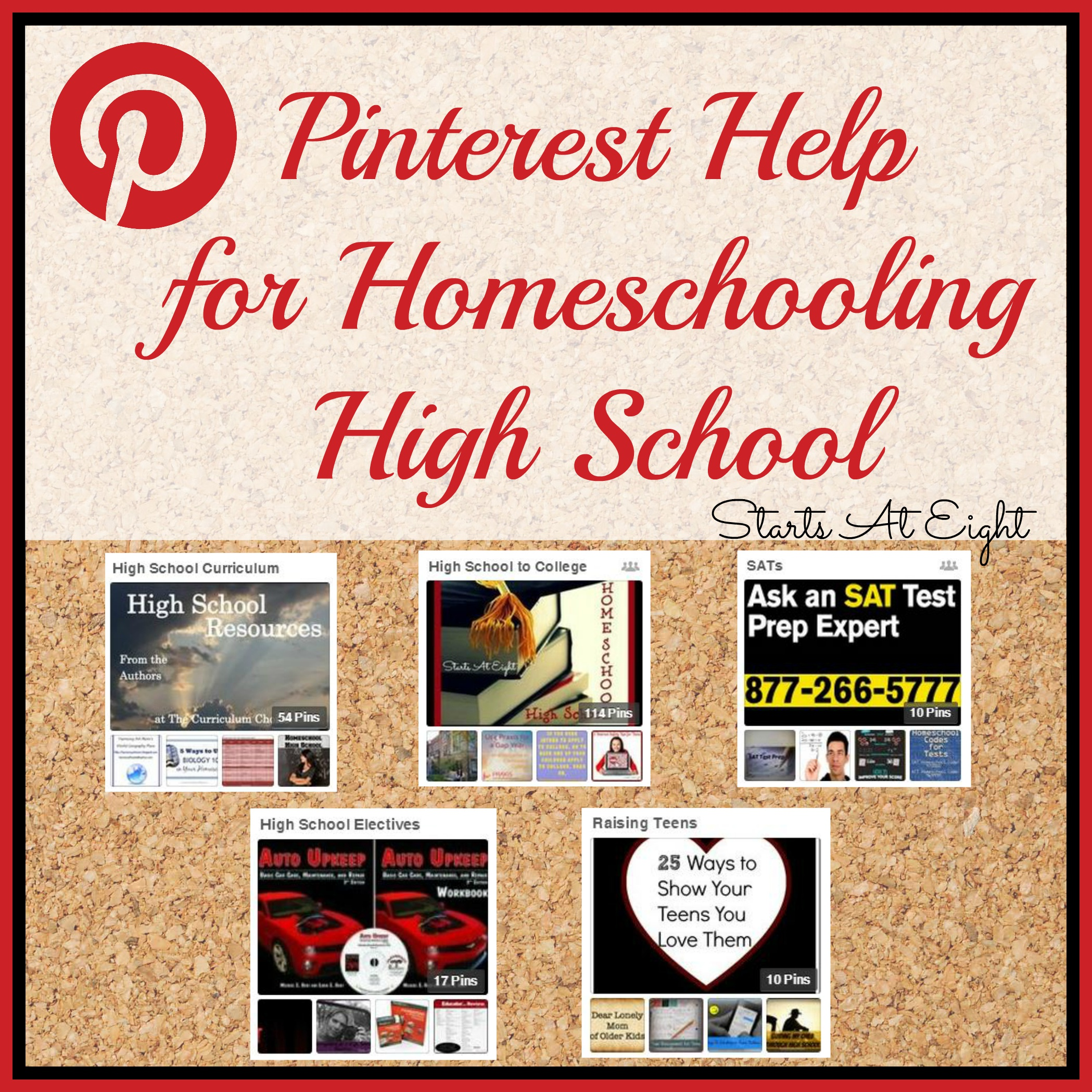 Pinterest Help for Homeschooling High School