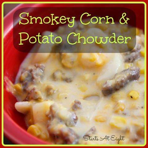 Smokey Corn and Potato Chowder from Starts At Eight