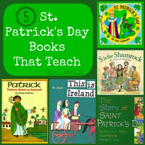 5 St. Patrick's Day Books That Teach from Starts At Eight