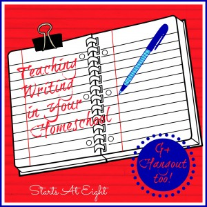 Teaching Writing in Your Homeschool from Starts At Eight