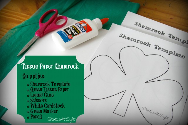 Tissue Paper Shamrock Supplies from Starts At Eight