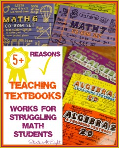5+ Reasons Teaching Textbooks Works for Struggling Math Students from Starts At Eight