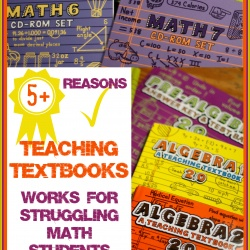 5+ Reasons Teaching Textbooks Works for Struggling Math Students