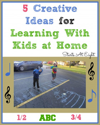 5 Creative Ideas for Learning With Kids at Home from Starts At Eight