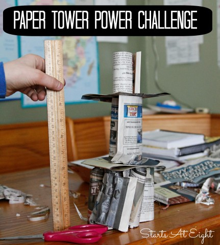 Paper Tower Power Challenge