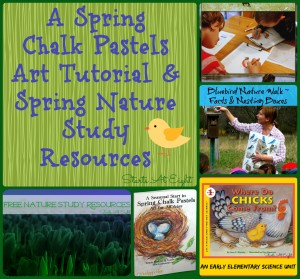 Spring Chalk Pastels Art Tutorial & Spring Nature Study Resources from Starts At Eight