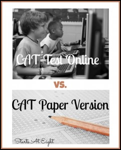CAT Test Online vs. CAT Paper Version from Starts At Eight