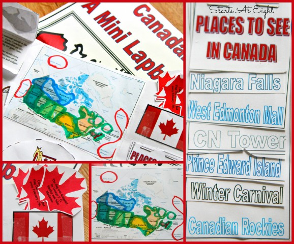 Canada Lapbook from Starts At Eight