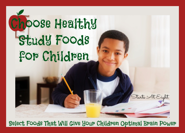 Choose Healthy Study Foods for Children from Starts At Eight