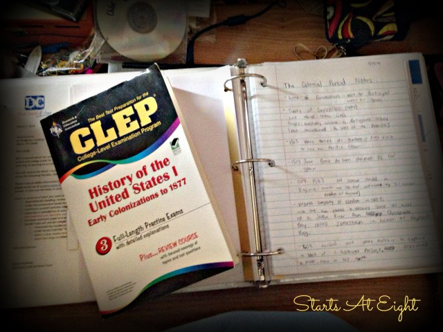 Eyes of a High Schooler - CLEP Studies from Starts At Eight