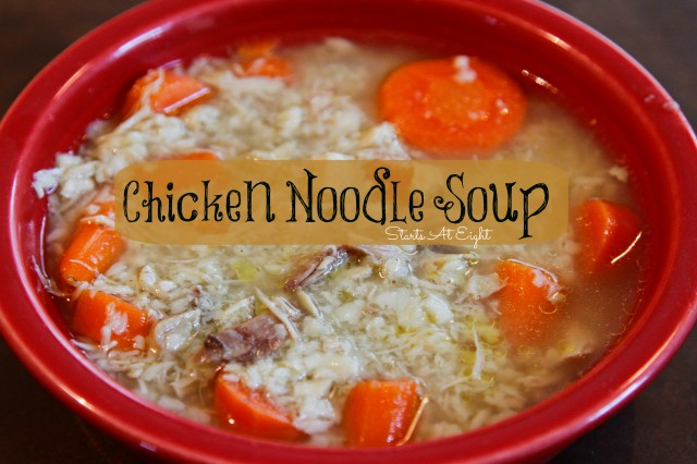 Chicken Noodle Soup from Starts At Eight