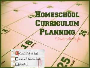 Homeschool Curriculum Planning from Starts At Eight