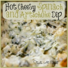 Hot Cheesy Spinach and Artichoke Dip