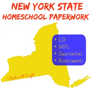 New York State Homeschool Paperwork from Starts At Eight