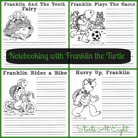 Notebooking with Franklin the Turtle from Starts At Eight