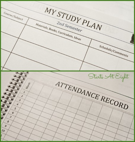 Notes & Record Keeping in Homeschool Student Planner from Starts At Eight