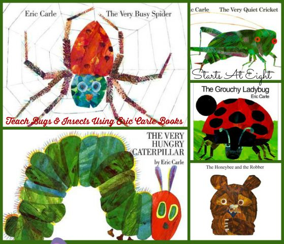 Teach Bugs and Insects Using Eric Carle Books from Starts At Eight