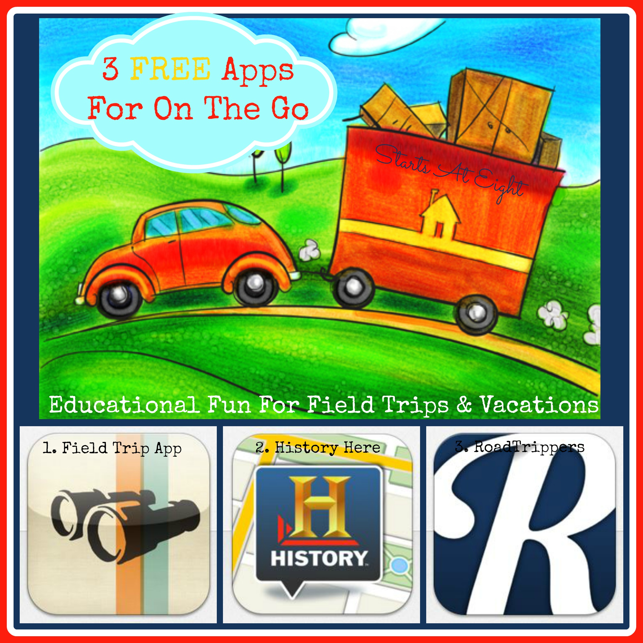 3 FREE Apps For On The Go: Educational Fun For Field Trips & Vacations