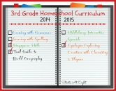 3rd Grade Homeschool Curriculum ~ 2014-2015