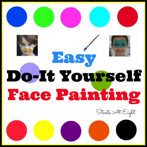 Easy Do-It Yourself Face Painting from Starts At Eight