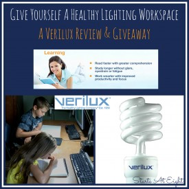 Give Yourself a Healthy Lighting Workspace ~ A Verilux Review & Giveaway from Starts At Eight