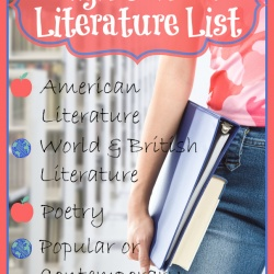 High School Literature List ~ American Literature