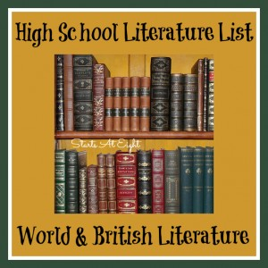 High School Literature List ~ World & British Literature from Starts At Eight