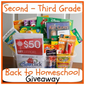 Second - Third Grade Back to Homeschool Giveaway from Starts At Eight