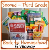 Second – Third Grade Back to Homeschool Giveaway