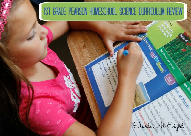 1st Grade Pearson Homeschool Science Curriculum Review from Starts At Eight