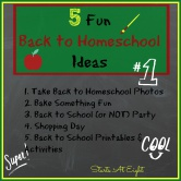 5 Fun Back to Homeschool Ideas