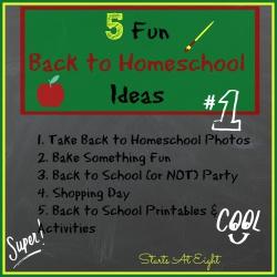 5 Fun Back to Homeschool Ideas