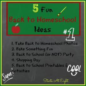 5 Fun Back to Homeschool Ideas from Starts At Eight